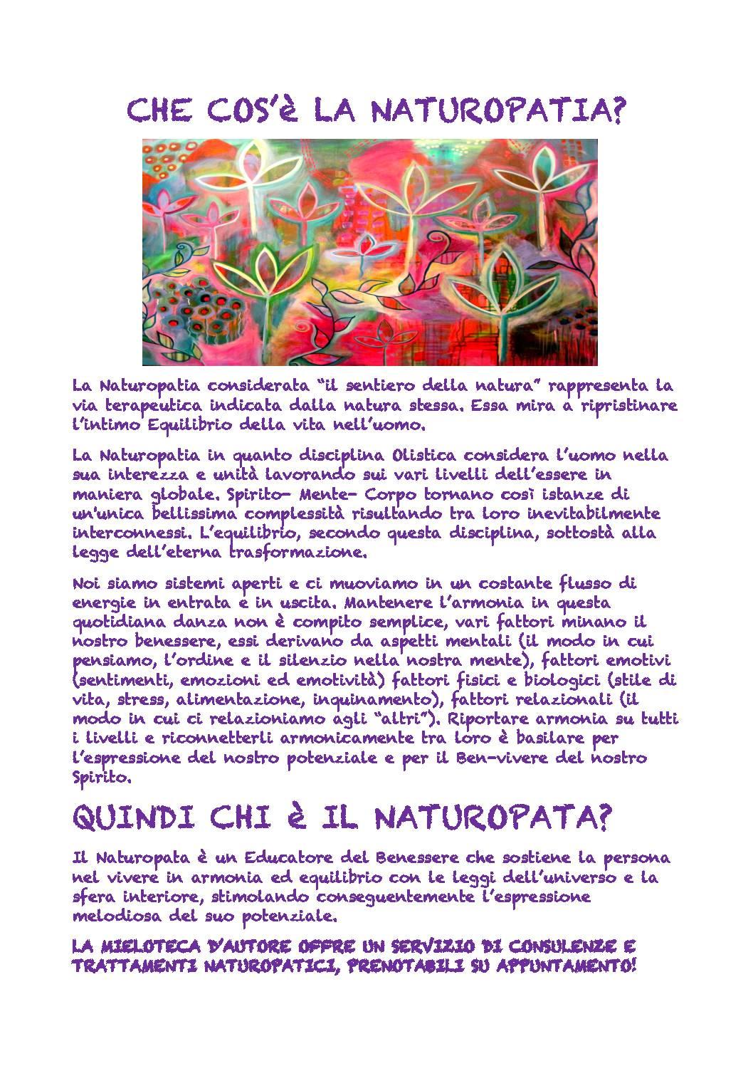 La naturopatia